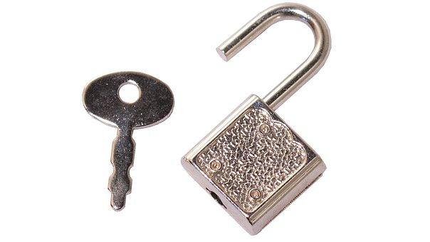 Key, Padlock, Lock, Diary Lock, The Small Object, Metal