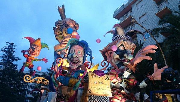 Carnival, Parade, Allegory, Papier Mache, Wagon