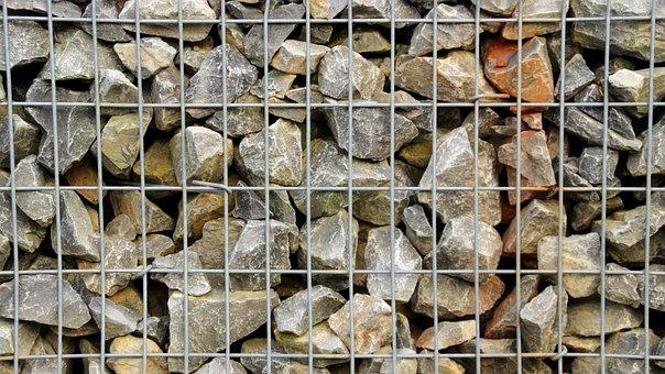 Stones, Gravel, Wire, Pattern, Background