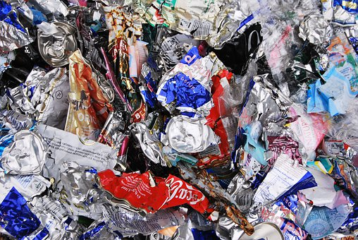 Recycling, Cans, Yellow Bag, Waste, Trash, Rubbish