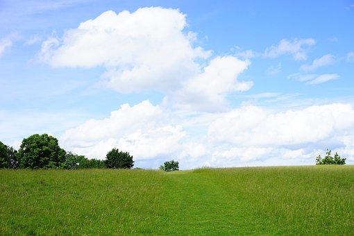 Rand Ecker Maar, Landscape, Nature, Idyll, Sky, Clouds