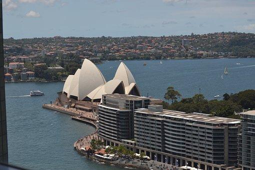 Sydney, Opera House, Australia, Architecture, Skyline