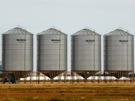Silo, Wheat Storage, Wheat, Storage, Harvest