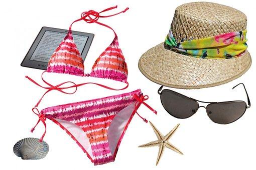 Summer, Bikini, Hat, Sun Hat, Straw Hat, Shades