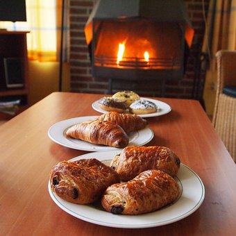 Tasty, Breakfast, Sandwiches, Cosy, Fireplace, Fire