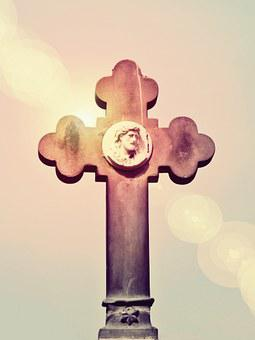 Cross, Cemetery, Faith, Mourning, Tombstone, Grave