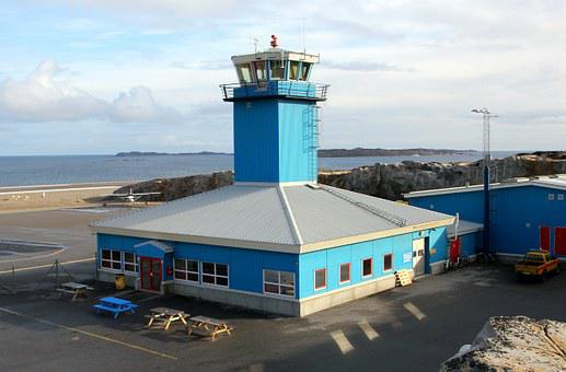Airport, Building, Tower, Greenland, Aasiaat
