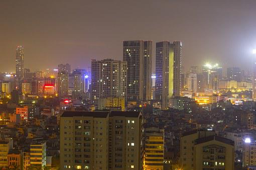 The City, Hanoi, Vietnam, Urban Area, Densely Populated