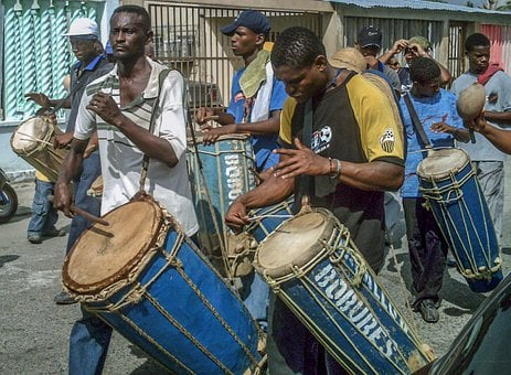 Venezuela, Village, Villagers, Drums, Men, Boys