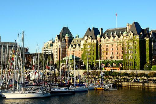Victoria Bc, Inner Harbor, Empress Hotel, Bc, Victoria