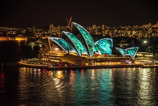 Sydney Opera House, Sydney, Australia, Vivid Lightshow