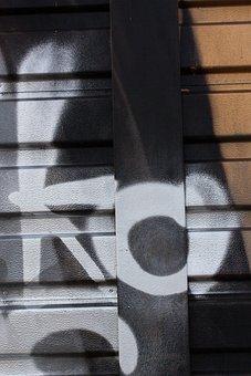 Graffiti, Wall, Grunge, Sheet Metal Fence, City, Facade