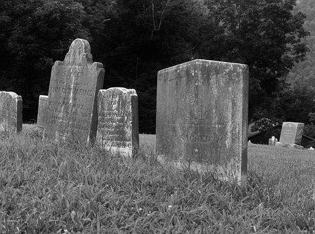 Old, Tomb, Grave, West, Virginia, Civil, War, Harper