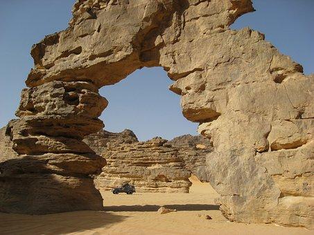 Algeria, Sahara, Desert, Sand, Ark, Erosion, 4x4