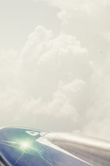 Aircraft, Wing, Clouds, Jet, Aircraft Fuselage, Flyer