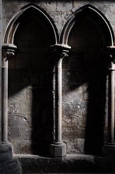 Rouen, Cathedral, France, Building, Ark, Light