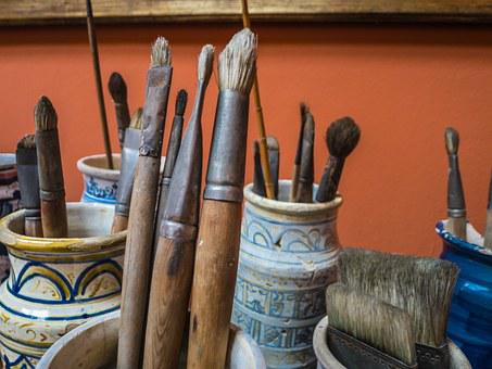 Brushes, Painter, Painting, Box, Color, Art, Colors