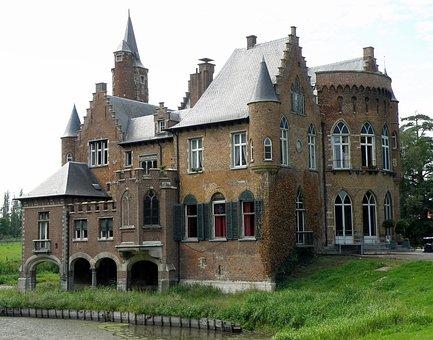 Castle, Wissekerke, East Flanders, Moated, Basel