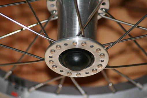 Wheel Hub, Spokes, Bike, Bicycle Spokes