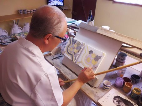 Painting, Ceramic, Color, Box, Colors, Art, Crafts
