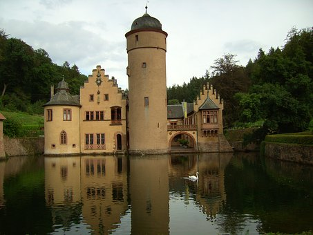 Castle, Spessart, Places Of Interest, Moated Castle