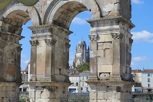 Saintes, Charente-maritime, France, Church, Cathedral
