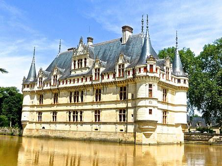 Chateau D'azay Le Rideau, Chateau, Castle, France