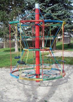 Playground, Game Device, Klettergerüst, Play, Climb