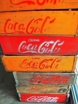 Wooden Boxes, Boxes, Coca Cola, Containers, Wood