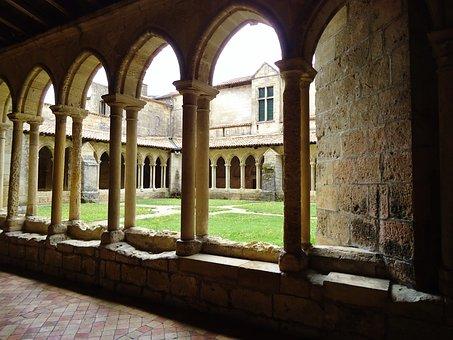 Church, Court, Garden, Arches, Ark, Based, Courtyard