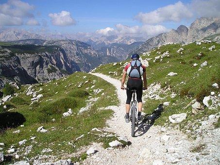 Mountain Bike, Bike, Transalp, Cyclists, Singletrail