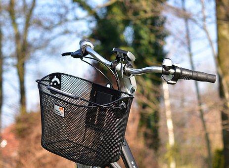 Ebike, E-bike, Handlebars, Bike, Basket, Bicycle Basket