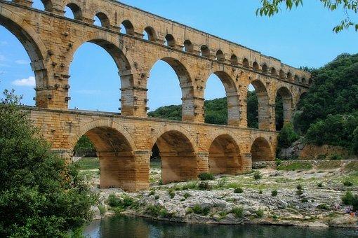 France, Gard, Provence, Pont Du Gard, Ark