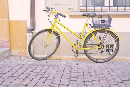 Bike, Wheel, Cycling, Hipster, Yellow, City, Retro
