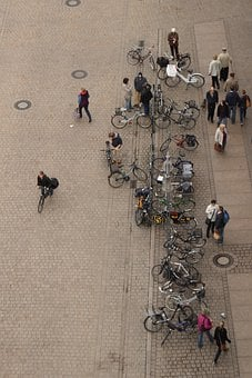 Bicycles, Perspective, Top, Aerial View, Human, Bike