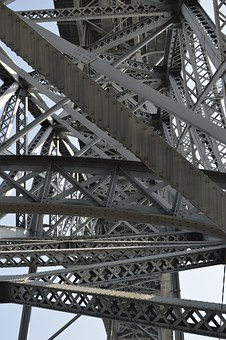 Bridge, Tubing, Lines, Iron, Industrial, Complicated