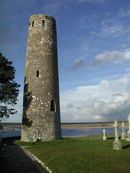 Clonmacnoise, Tower, Offaly, Ireland, River Shannon