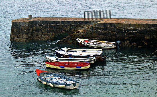 Boats, Ireland, Sea, Coastline, Outdoor, Irish, Wicklow