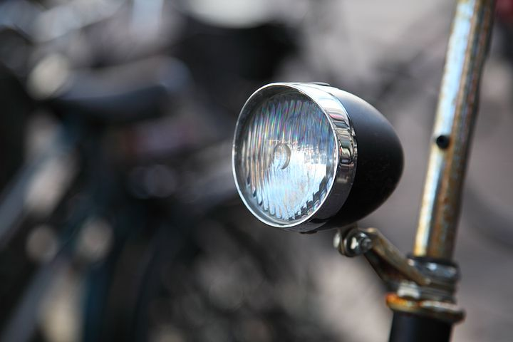 Bicycle, Bike, Chrome, Front, Glass, Lamp, Light, Metal