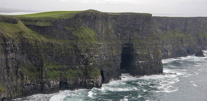 Cliffs Of Moher, Ireland, Nature, Sea, Water