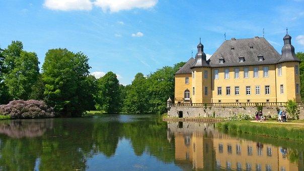 Castle, Moated Castle, Schloss Dyck, Niederrhein