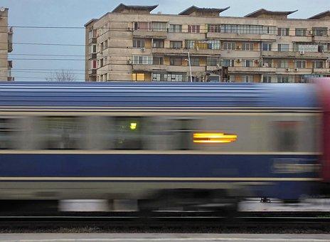 Wagon, Train, Voyage, Night Travel, Gara De Nord
