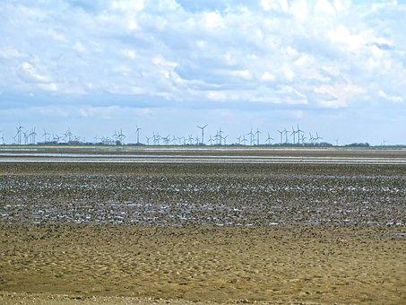 Watts, Wadden Sea, Ebb, Sea, North Sea, Water, Beach