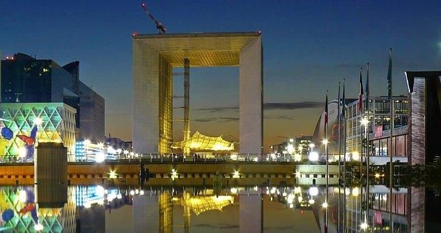 Paris, Ark, France, Architecture, La Défense, Modern