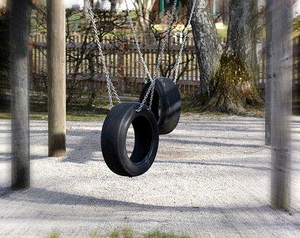 Playground, Swing, Mature, Play, Game Device, Children