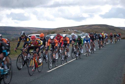 Tour, Cycling, Bicycle, Race, Cyclist, Bunch