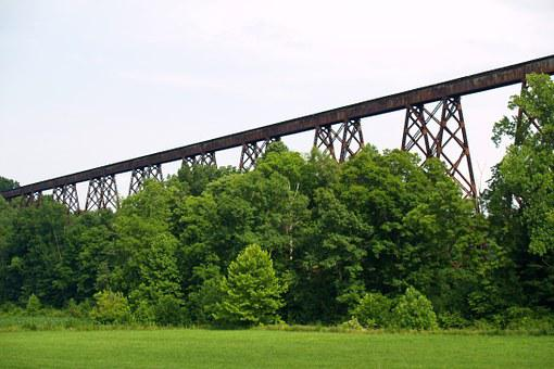 Viaduct, Railroad, Trestle, Bridge, Railway
