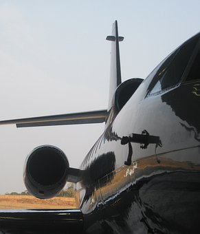 Business Jet, Shiny, Reflection, Reflecting Colors