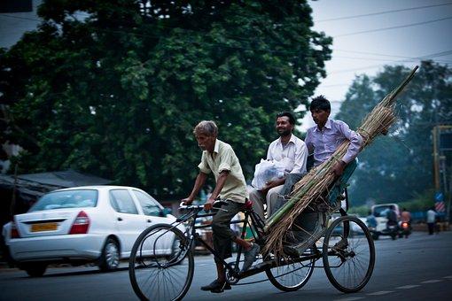 Rickshaw, Transportation, Mens Cycling, India, Life