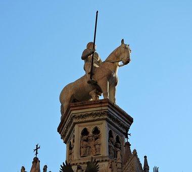Statue, Scala, Verona, Arks Scaligere